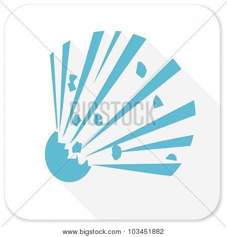 bomb blue flat icon