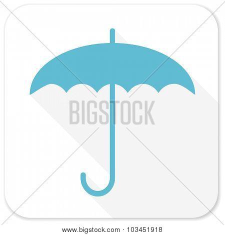 umbrella blue flat icon