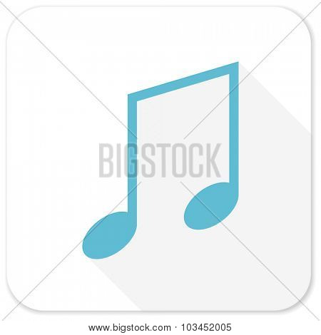 music blue flat icon