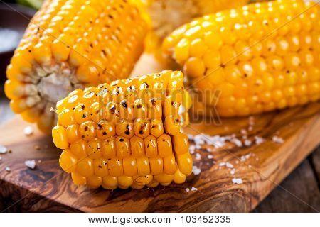 Grilled Sweet Corn Closeup