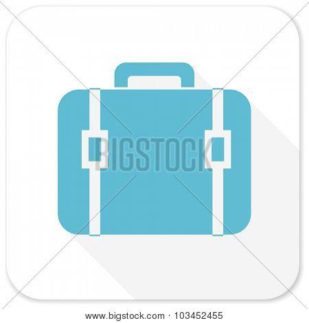 bag blue flat icon
