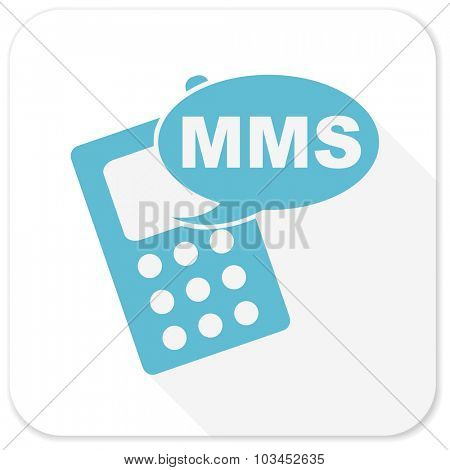 mms blue flat icon