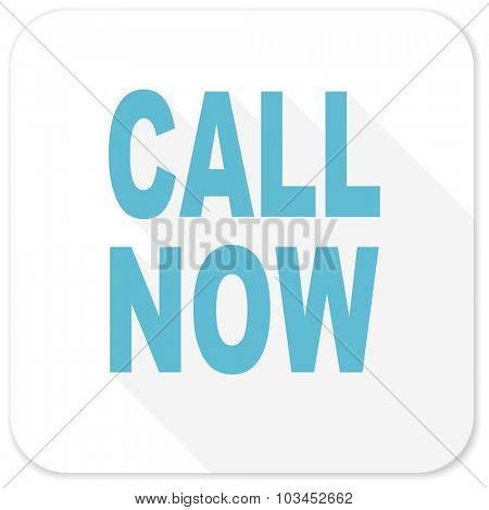 call now blue flat icon
