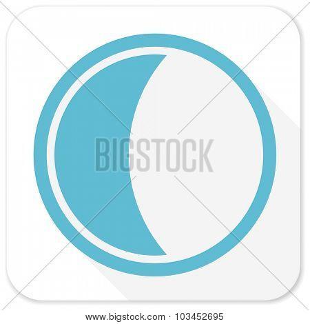 moon blue flat icon