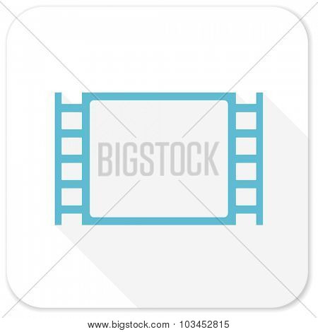 movie blue flat icon
