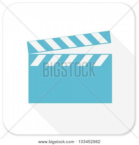 video blue flat icon