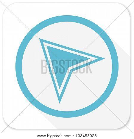 navigation blue flat icon