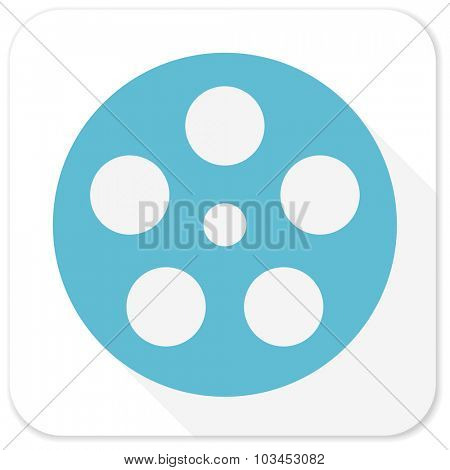 film blue flat icon