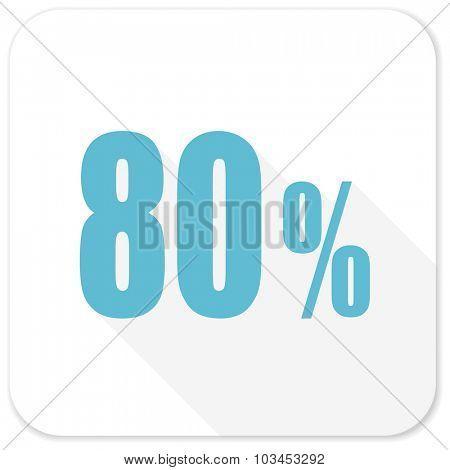 80 percent blue flat icon