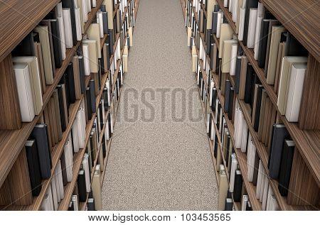 Library Bookshelf Aisle