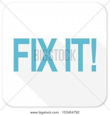 fix it blue flat icon