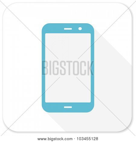 smartphone blue flat icon