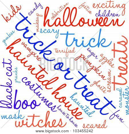Trick Or Treat Word Cloud