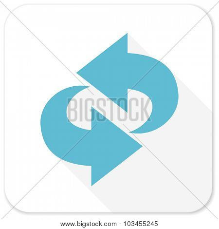rotation blue flat icon
