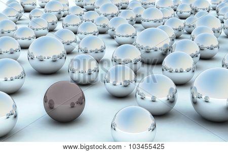 3D Ball Dark Contrast