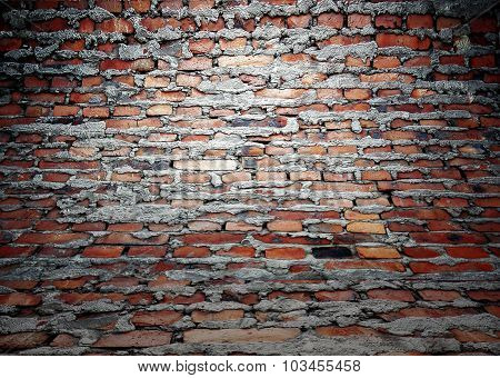 Brick Wall Texture, Empty Interior