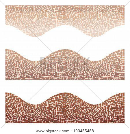 Seamless Background Wave Mosaic A Brown And Chocolate Colors