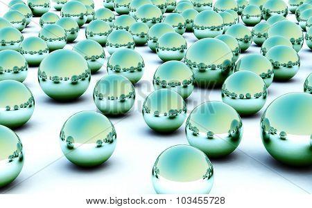 3D Light Green Ball Glass