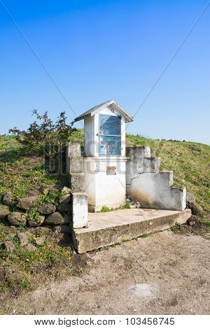 Italian Traditional Votive Temple In The Countryside.