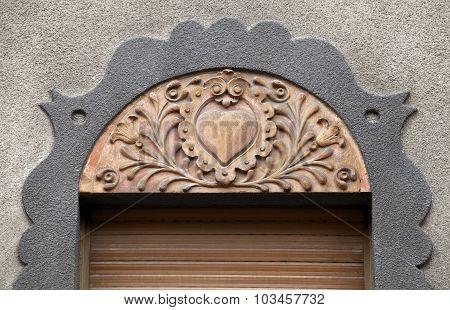 Architecture detail in Subotica, Serbia