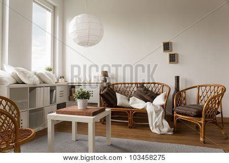 Wicker Loveseat And Chairs