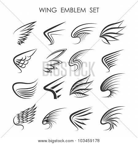Wing Logo Set