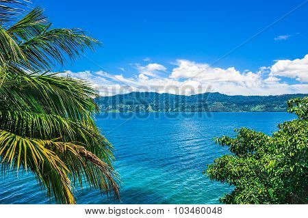 View Of Lake Toba In Sumatra, Indonesia