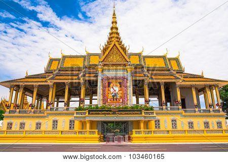 Ancient Royal Palace In Phnom Penh