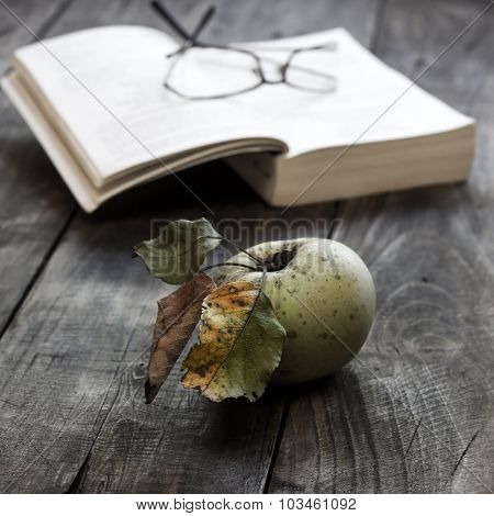 Organic Apple And Book