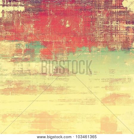 Dirty and weathered old textured background. With different color patterns: yellow (beige); brown; green; red (orange)