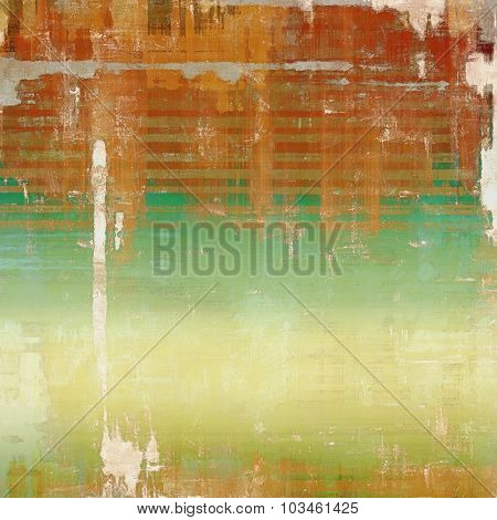 Grunge retro vintage texture, old background. With different color patterns: yellow (beige); brown; green; red (orange)