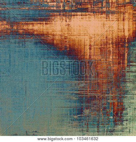 Colorful designed grunge background. With different color patterns: yellow (beige); brown; blue; gray