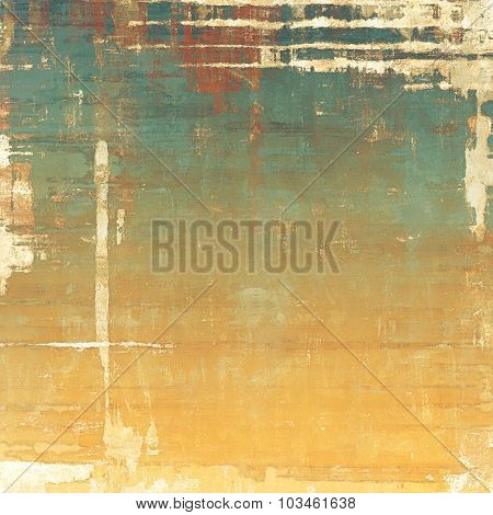 Beautiful antique vintage background. With different color patterns: yellow (beige); brown; green; cyan