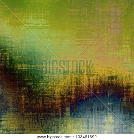 Old antique texture (for background). With different color patterns: yellow (beige); brown; blue; green