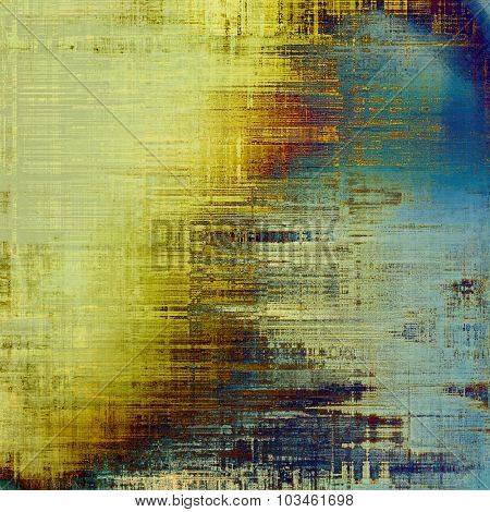 Abstract distressed grunge background. With different color patterns: yellow (beige); brown; blue; cyan