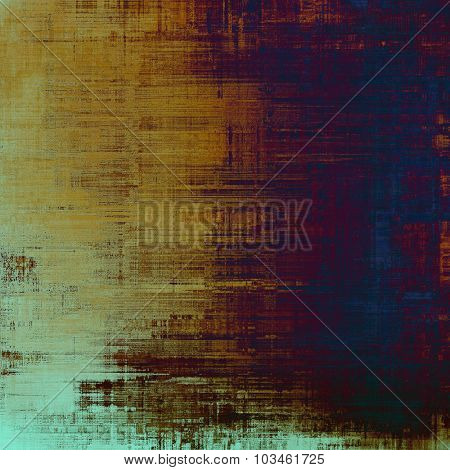 Old abstract texture with grunge stains. With different color patterns: yellow (beige); brown; purple (violet); blue