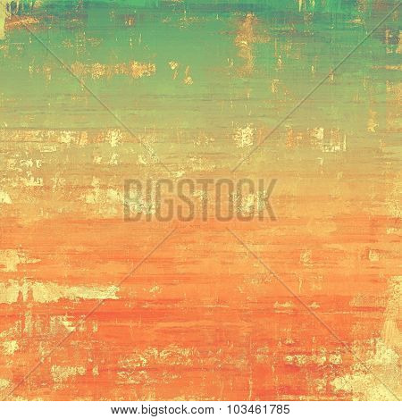 Art grunge vintage textured background. With different color patterns: yellow (beige); brown; green; red (orange)