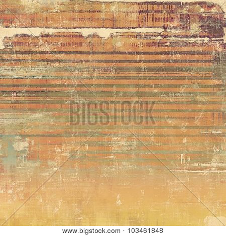 Grunge aging texture, art background. With different color patterns: yellow (beige); brown; gray
