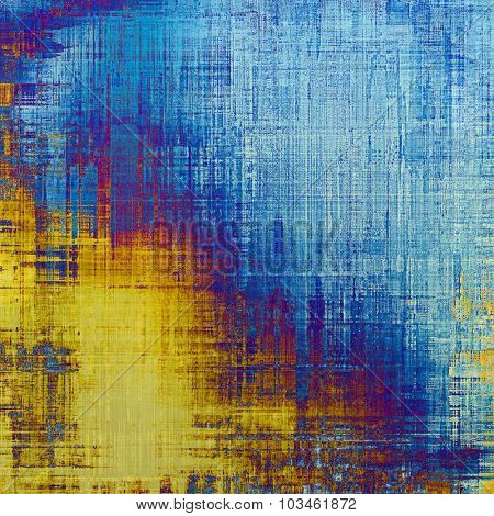 Grunge aging texture, art background. With different color patterns: yellow (beige); purple (violet); blue; cyan