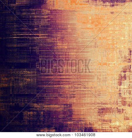 Old designed texture as abstract grunge background. With different color patterns: yellow (beige); brown; purple (violet); pink