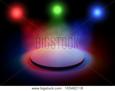 3D Stage Lights, Black Background