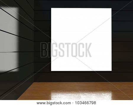 3D Blank Frame In Empty Interior