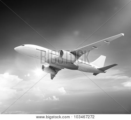 Airplane Plane Flying Aircraft Transportation Travel