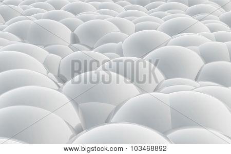 3D Spheres Crossover White