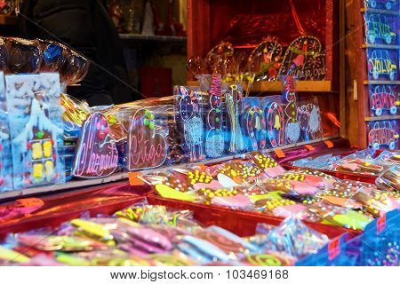 Traditional Sweet Souvenirs At The Christmas Market In Old Riga
