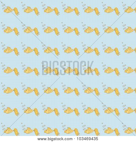 Pattern With Goldfish