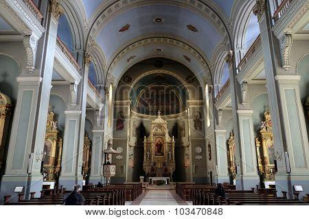 ZAGREB, CROATIA - MAY 28: Basilica of the Sacred Heart of Jesus in Zagreb, Croatia on May 28, 2015