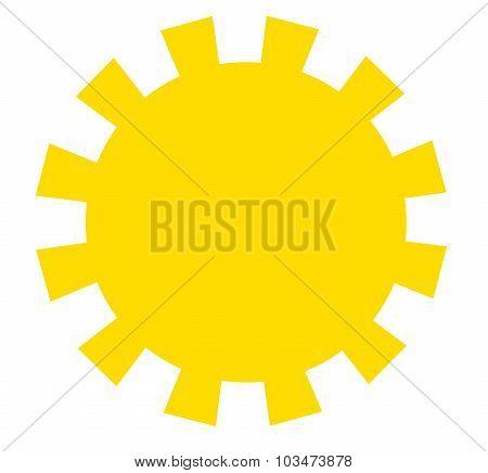 Yellow Sun Drawing