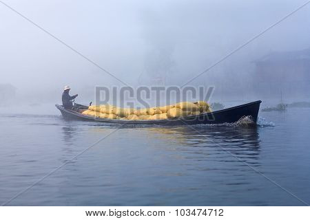 Intha Tribe People On Inle Lake, Myanmar
