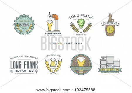 Line color beer labels.